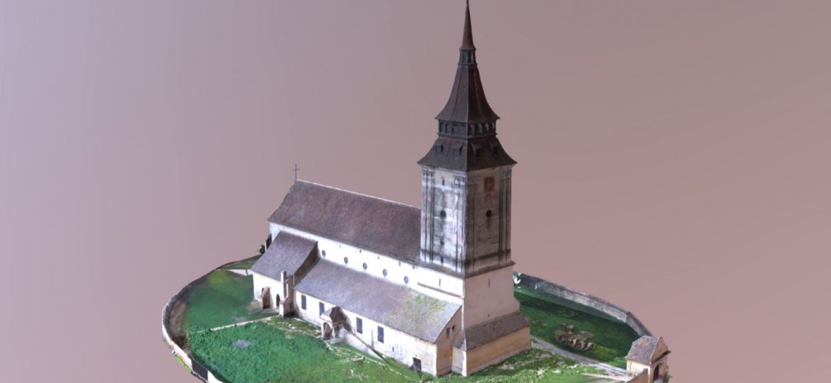 Feldioara church model